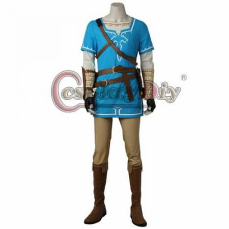 Cosplaydiy The Legend of Zelda Breath of the Wild Link Cosplay Costume Adult Men Halloween Carnival Outfit Full set Custom Made 1