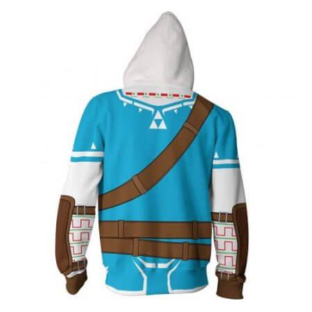 2019 Autumn Winter 3D Print Legend of Zelda Sweatshirts Hoodies Fashion Cosplay Zipper hooded Jacket clothing 2