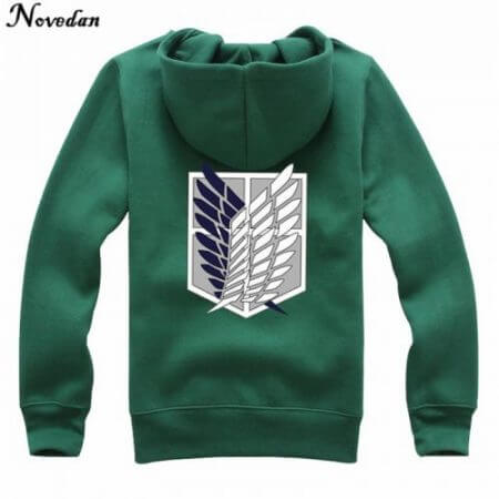 Novedan Anime Attack On Titan Cosplay Costumes Hoodie Green Black Scouting Legion Hooded Jacket For Women Men 3