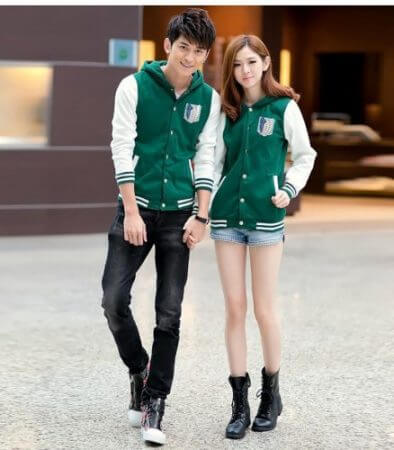 Hot Anime Costumes Cosplay Shingeki No Kyojin Attack On Titan Costume Hoodie Jacket casual hoodies Sweatshirt pour les couples 2