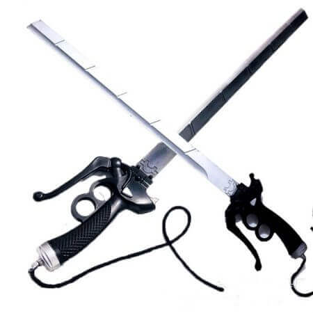 Attack On Titan Mikasa Ackerman sword cosplay RivaMika LeviMika sword Movie simulation weapon Prop