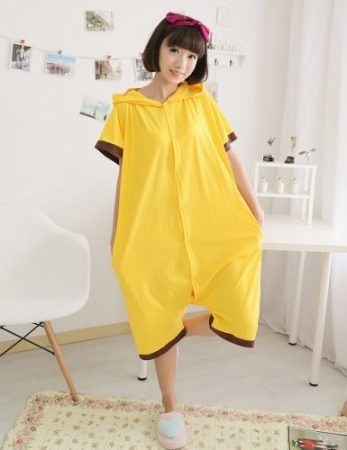 Anime pajamas Pikachu men/women adult kids short sleeve cotton cartoon pajamas summer Unisex Pokemon Cosplay Kigurumi costume 3