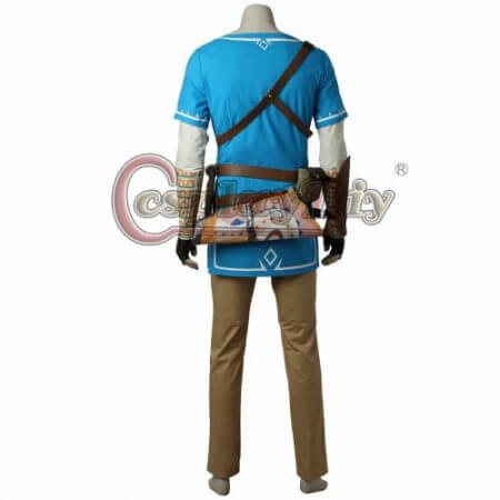 Cosplaydiy The Legend of Zelda Breath of the Wild Link Cosplay Costume Adult Men Halloween Carnival Outfit Full set Custom Made 4