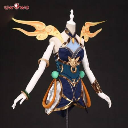 UWOWO  Game League of Legends LUNAR EMPRESS LUX Cosplay Costume Women LOL Luxanna Crownguard The Lady of Luminosity Costume 1