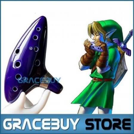 12 Holes Ocarina Legend of Zelda Alto C Flute Occarina Taps Blue Ceramic/Clay stl Orcarina Inspired of Time With Bag 80 B 5