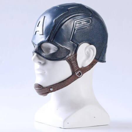 Movie Captain America 3 Civil War Captain America Mask Cosplay Steven Rogers Superhero Latex Helmet Halloween For Men Party Prop 3