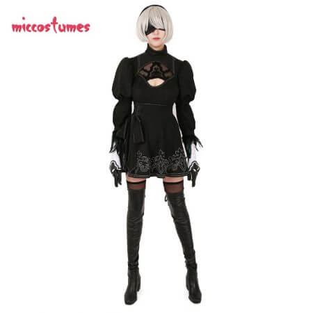 Nier: Automata YoRHa No.2 Type B 2B Cosplay Costume 1