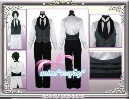 Black Butler 2 Kuroshitsuji Sebastian Michaelis Cosplay Costume Unisex Uniform 1