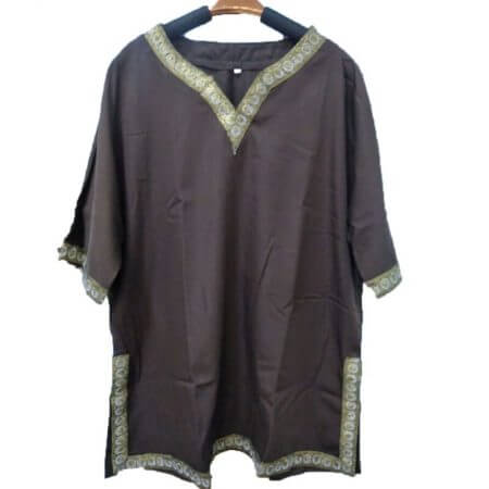 Adult Men Medieval Knight Warrior Costume Green Tunic Clothing Norman Chevalier Braid Viking Pirate Saxon LARP Top Shirt For Men 5