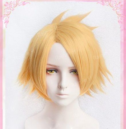 High Quality Kaminari Denki Wigs My Hero Academy Heat Resistant Synthetic Hair Cosplay Costume Wig + Wig Cap 1