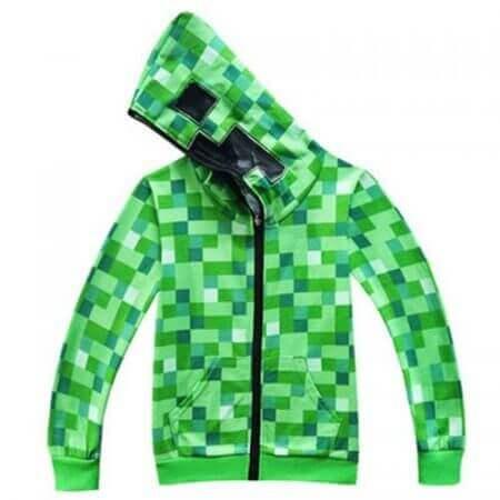 kids Boys Girls Winter Outwear Minecrafters Cartoon  Clothes Sweatshirts Long Sleeve Christmas Shirt Game Creeper Cosplay Jacket 1