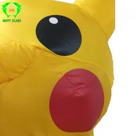 Inflatable Pikachu Costumes Halloween Cosplay Large Pokemon Mascot Costume for Kids Adults Men Women Party Inflatable Costume 3