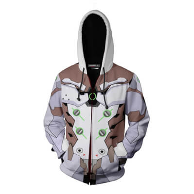 New OW Hooded Sweatshirts Genji DV.a Mercy Full Zip Thin Hoodies Cool Pullover Coat Jacket Cosplay Halloween Costume 1