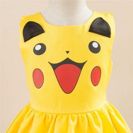 Girls Pikachu costume Cute Ball Gown Dress Kids Child Lovely Dress Costume Anime Cosplay Pokemon Go Costume Birthday Party Dress 2