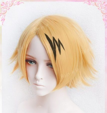 High Quality Kaminari Denki Wigs My Hero Academy Heat Resistant Synthetic Hair Cosplay Costume Wig + Wig Cap 2