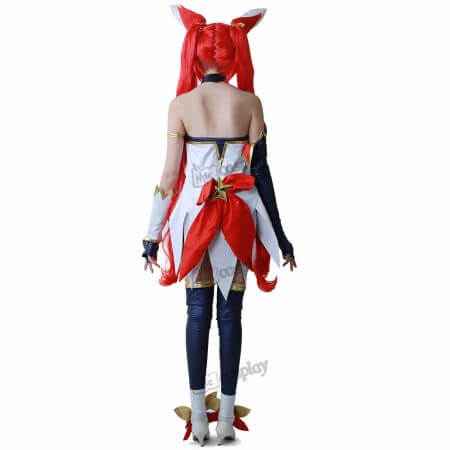 cos Jinx Cosplay Costume Women Red Shorts Headwear 3