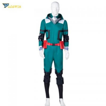 Anime My Hero Academia Cosplay Costume Izuku Midoriya Cosplay Costume Boku No Hero Academia Deku Combats Uniform Halloween Party 4