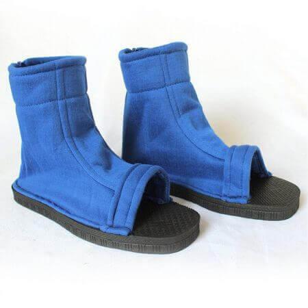 Naruto Cosplay Shoes Akatsuki Nanja Uzumaki Naruto Sakura Sasuke Black Blue Cotton Soft Sandals Ninja Boots Kakashi Shoes 3