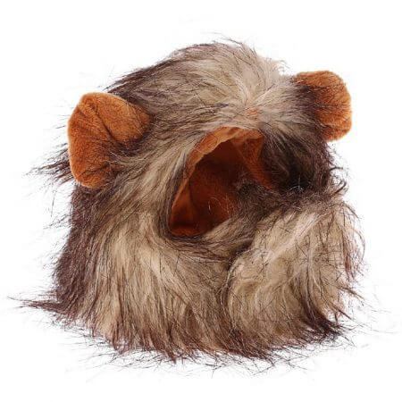 Funny Cute Pet Cat Costume Lion Mane Wig Cap Hat for Cat Dog Halloween Christmas Clothes Fancy Dress with Ears Pet Clothes 5