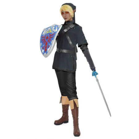 Anime New The Legend of Zelda Dark Link Cosplay Costume Halloween Party Men Unisex Clothing