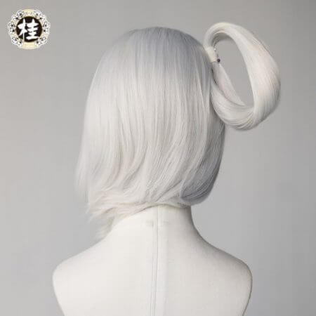 Game League of Legends LUNAR EMPRESS LUX Cosplay Wig Synthetic white Straight Hair 4