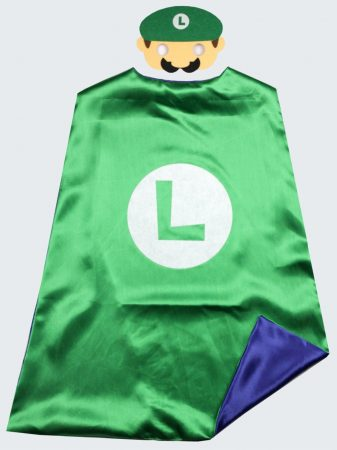 Super Mario Bros cape + mask kids Party cosplay Superman capes for birthday party favor 2