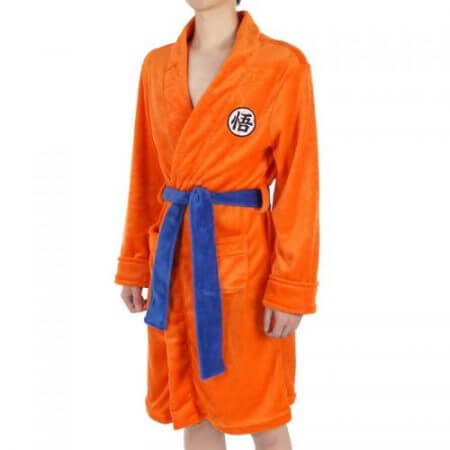 2018 Adult Bathrobe Dragon Ball Cosplay Son Goku Costume Bath Robe Sleepwear Pattern Plush Robe Women Men Pajamas Cartoon 2