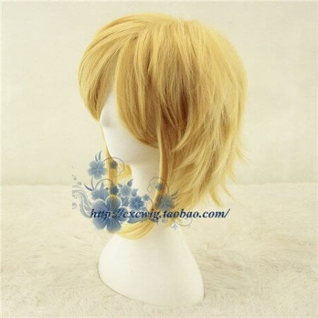 Golden Link Wig Cosplay Wig Legend of Zelda Cosplay Hair Role Play Synthetic Hair for Adult 1