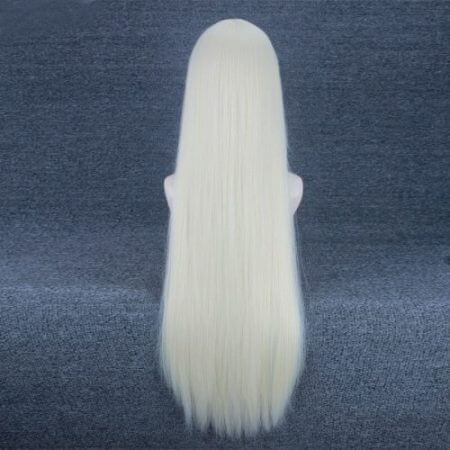 NieR Automata YoRHa Type A No.2 A2 Silver / Light Golden Long Wig Cosplay Costume Heat Resistant Synthetic Hair Women Wigs 4