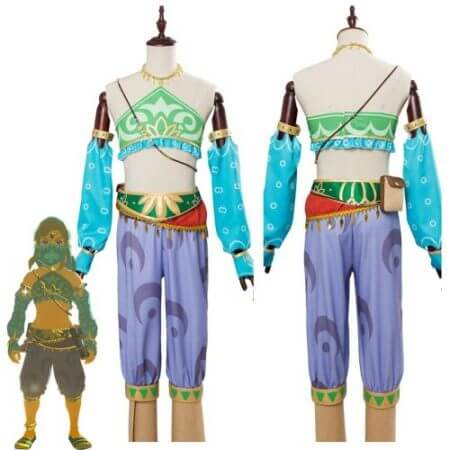The Legend of Zelda Breath of the Wild Cosplay Costume Female Zelda Link Cosplay Costume Gerudo Halloween Carnival Costumes
