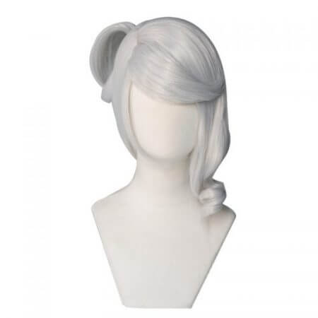 Game League of Legends LUNAR EMPRESS LUX Cosplay Wig Synthetic white Straight Hair 1