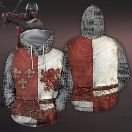 3D All Over Printed Knights Templar Tops Streetwear Hoodie Long Sleeve Pullover Custom Hoodie 2019 Hot Sale Drop Shipping 5