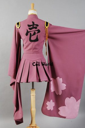 Vocaloid Hatsune Miku Senbonzakura Kimono Uniform Dress Outfit Anime Cosplay Costumes Whole Set 3