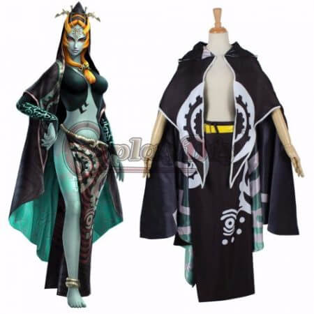 Cosplaydiy The Legend of Zelda Midna Costume Adult Women Halloween Carnival Cosplay Costume Custom Made