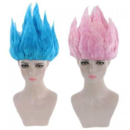 Cheap Son Goku Kakarotto Dragon Ball Cosplay Wig Black White Yellow Blue Pink Short Party Costume Wigs For Women And Men 1