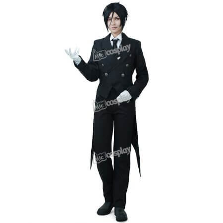 Anime New Hot Black Butler Sebastian Michaelis Cosplay Costume Halloween Unisex Party Clothing