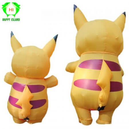 Inflatable Pikachu Costumes Halloween Cosplay Large Pokemon Mascot Costume for Kids Adults Men Women Party Inflatable Costume 2