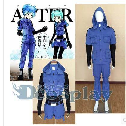 Assassination Classroom Shiota Nagisa Blue Cosplay Costume