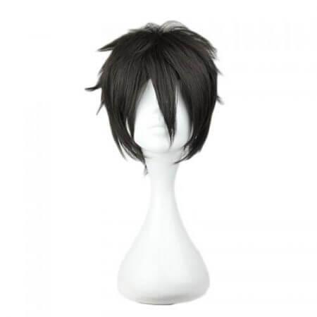 Sword Art Online Kirigaya Kazuto Wig SAO Kirito Short Black Heat Resistant Synthetic Hair Cosplay Wigs + Wig Cap 1