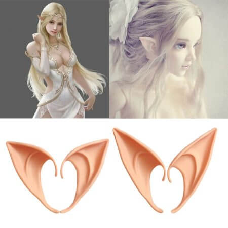 1-3 Pairs Latex Elf Ears Pointed Cosplay Mask Accessories Halloween Masquerade Party Anime Fairy Costumes Deep Color W15 4