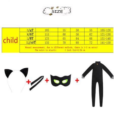 Anime Disfraz Ladybug Black Cat Noir Costume Disfraz Ladybug Cosplay Mujer Costume Women Halloween For Kids Children Gift 4