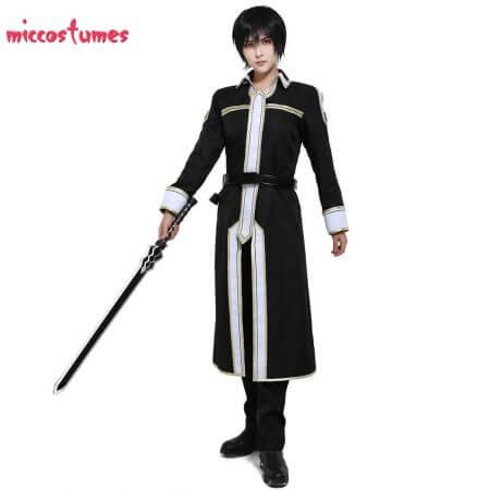 Sword Art Online Alicization Kirigaya Kazuto Kirito Cosplay Costume Uniform Men Halloween Uniform Outfit 2