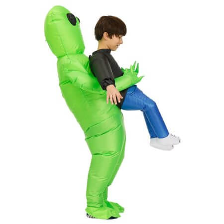 New Purim Scary Green Inflatable Alien costume Cosplay Mascot Inflatable Monster suit Party Halloween Costume for Kids Adult 5