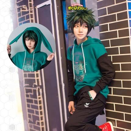 New My Hero Academia Boku no Hero Academia Cosplay Costumes Midoriya Izuku Teens College Cotton Hoodies Jackets Sweatshirts Top