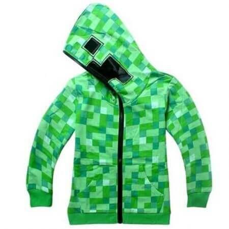 kids Boys Girls Winter Outwear Minecrafters Cartoon  Clothes Sweatshirts Long Sleeve Christmas Shirt Game Creeper Cosplay Jacket 5