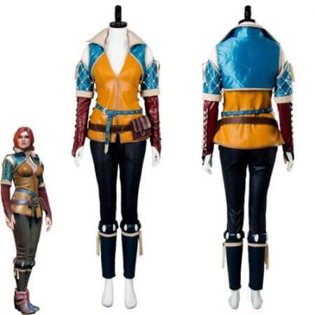 High Quality Triss Merigold Cosplay Costume Adult Women Custom Made