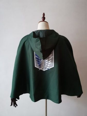 SALE Attack on Titan Cloak Shingeki no Kyojin Scouting Legion Cosplay Costume anime cosplay green Cape mens clothes 2