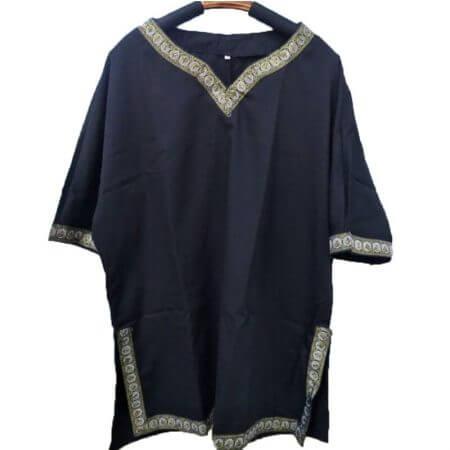 Adult Men Medieval Knight Warrior Costume Green Tunic Clothing Norman Chevalier Braid Viking Pirate Saxon LARP Top Shirt For Men 4