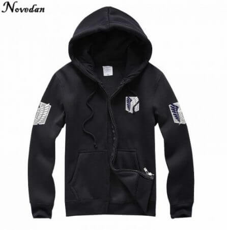 Novedan Anime Attack On Titan Cosplay Costumes Hoodie Green Black Scouting Legion Hooded Jacket For Women Men 5