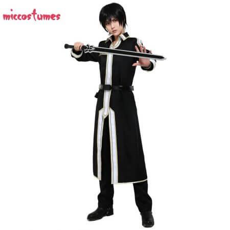 Sword Art Online Alicization Kirigaya Kazuto Kirito Cosplay Costume Uniform Men Halloween Uniform Outfit 1